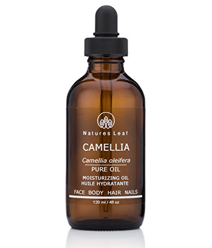 Camellia Seed Oil - Organic Camellia Seed Oil/Tea Seed Oil / 100% Pure/Fresh Cold Pressed/Beautifies Hair, Skin And Nails/Non-Comedogenic/Hypoallergenic / 4 fl oz/by Natures Leaf