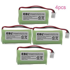 4 Pack of AT&T BT283342 Battery - Replacement for AT&T Cordless Phone Battery (800mAh, 2.4V, NI-MH) ()