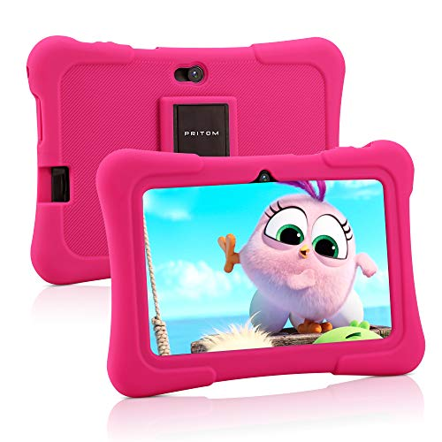 Pritom 7 inch Kids Tablet   Quad Core Android,16GB ROM   WiFi,Bluetooth,Dual Camera   Educationl,Games,Parental Control…