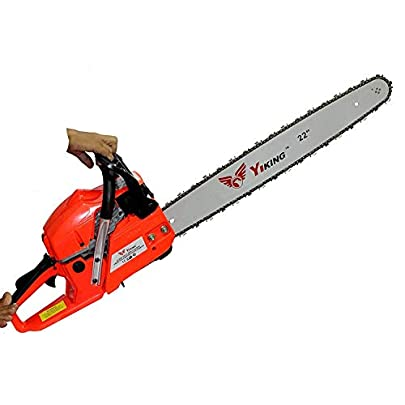 Inditrust Heavy Fuel Chainsaw for Wood, Tree Cutting, Chopping Operation (22-Inch, 58 cc Petrol, Blue)