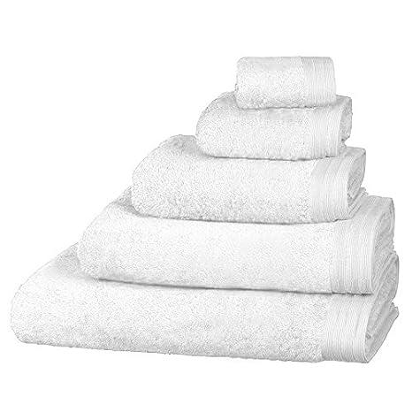 Just Contempo - Toalla (algodón Egipcio, Suave, 600 gsm), Toalla de Manos (50 x 85 cm), Blanco: Amazon.es: Hogar