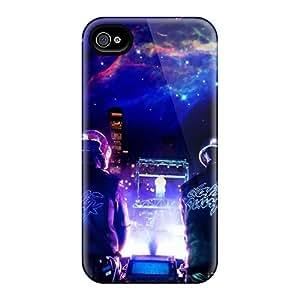 Excellent Design Double Dj Phone Case For Iphone 4/4s Premium Tpu Case