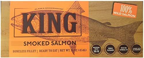 (Alaska Smokehouse Smoked King Salmon Fillet, 16 oz, Alaska Smokehouse )