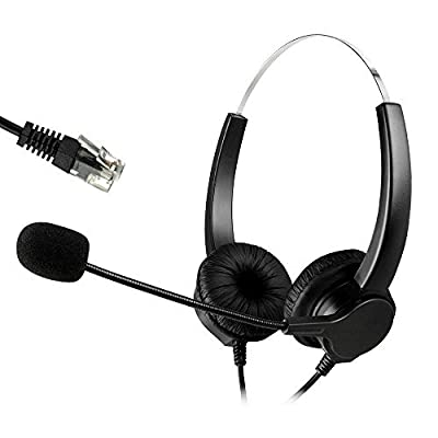 AGPtek® Hands-free Noise Cancelling Corded Binaural Headset Headphone with Mic Mircrophone (5 Patterns for Optional)