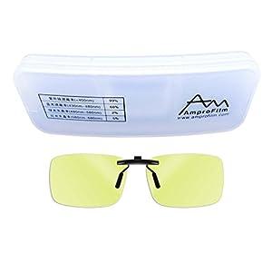 Reading glasses clip - Amprofilm Gamer and Computer Eyewear for Deep Sleep - Digital Eye Strain Prevention - Anti-Blue Glasses - LED Protection Glasses –MODEL A