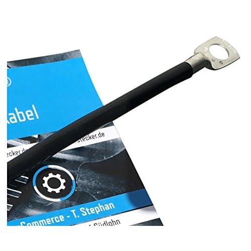 Câble de batterie eXODA 50cm câble d'alimentation en cuivre 25 mm² avec cosses à œillets M6 noir 12V câble de voiture cheap