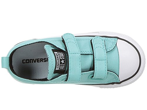 24d5d952951088 Amazon.com  Converse Kids Chuck Taylorr All Starr 2V Ox Infant Toddler  Light Aqua Black White Girls Shoes  Shoes