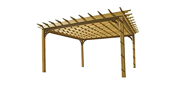 10 x 16 pergola de madera: Amazon.es: Jardín