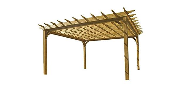 10 x 10 pergola de madera: Amazon.es: Jardín