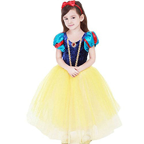 KUFV Snow White Costume For Girls Dress Up With Accessories -