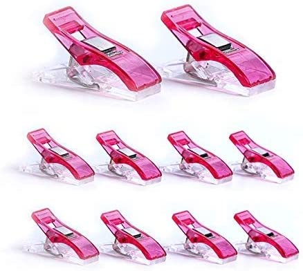 50 PCS Clear Sewing Craft Quilt Binding Plastic Clips Clamps Pack Storage