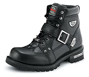 Milwaukee Motorcycle Clothing Company Road Captain Leather Women's Motorcycle Boots (Black, Size 7C)