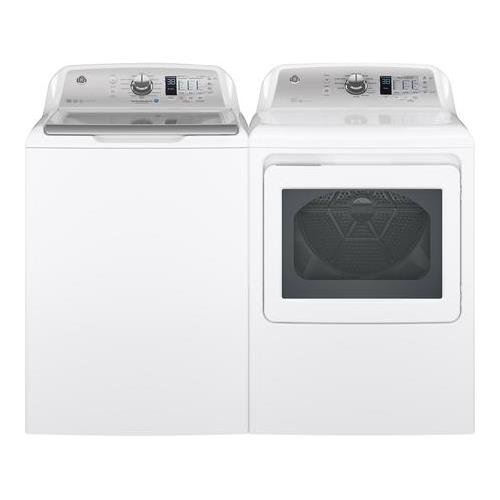 GE White Top Load Laundry Pair with GTW680BSJWS 27