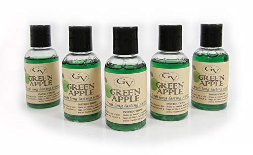 GV 5 Pack Green Apple Vacuum Fragrance scents for Rainbow, Rainmate, Thermax, Hyla, Humidifiers 2 fl oz