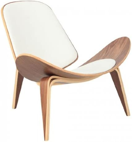Wegner Leather Shell Chair – White Leather