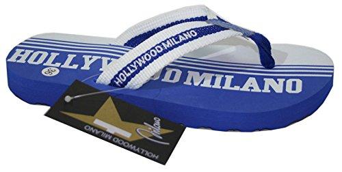 HOLLYWOOD MILANO infradito UNISEX mod.HM030TS bianco/azzurro