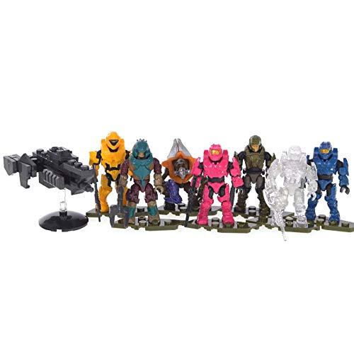 Halo Mega Construx Micro Action Figures Warrior Series CNC84 Blind Bag Bundle of 6