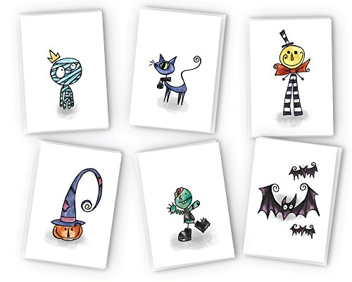 Halloween Greeting Cards Collection - 24 Cards & Envelopes