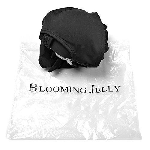 Blooming Jelly Women's Crochet Bikini Swimsuit Beach Swimsuit,Black,Small