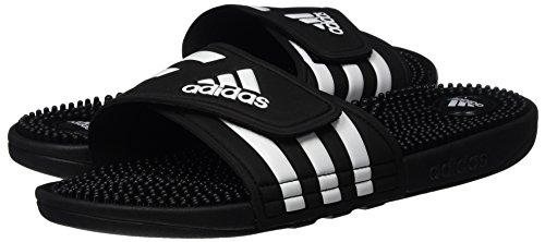 Piscina Zapatos adidasAdissage Running Negro Playa de Black White Black Hombre Footwear y dOwwZqI