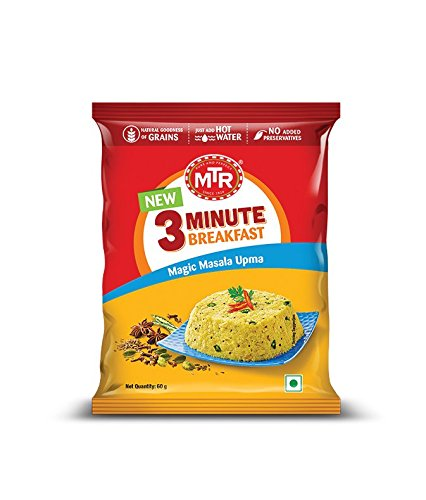 [Pantry] MTR 3 Minute Breakfast Magic Masala Upma Pouch, 60g