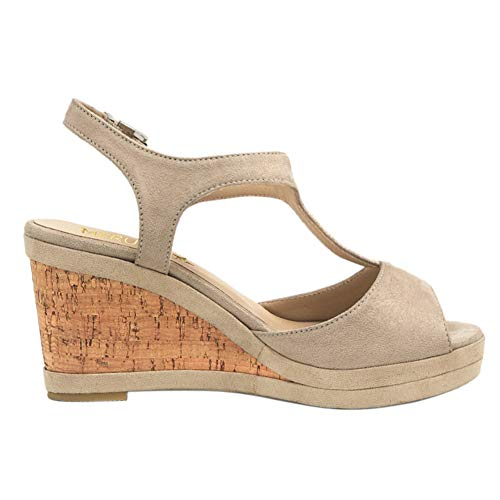 acd31cb1c3a MERUMOTE Women's Wedges Sandals High Platform Open Toe Ankle Strap ...