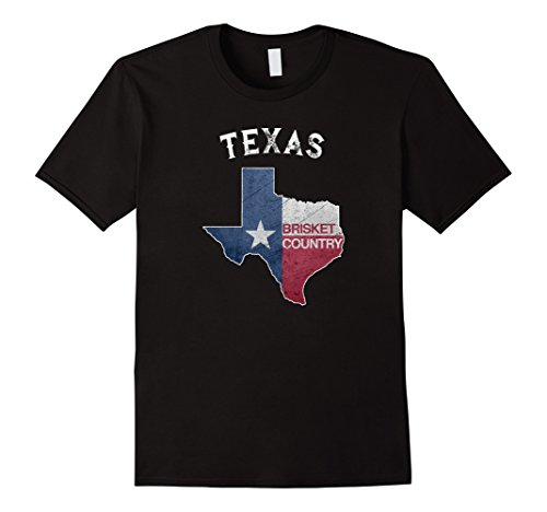Mens Texas Brisket Country State Of Texas Flag BBQ T-Shir...