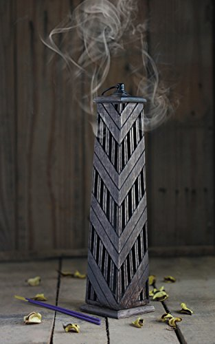 Wooden Incense Cone Burner Tower Stand Holder Hand Carved Design Home Decor Utilities & Accessories (Cheap Halloween Coffins For Sale)