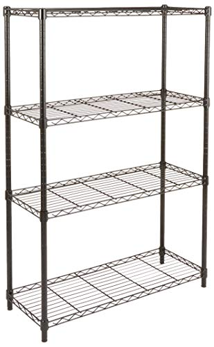 AmazonBasics 5-Shelf Shelving Storage Unit, Metal Organizer Wire Rack, Black (36L x 14W x 72H)