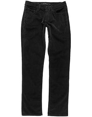 Calvin Klein Women's Power Stretch Micro Corduroy Jeans (2x34, Black)