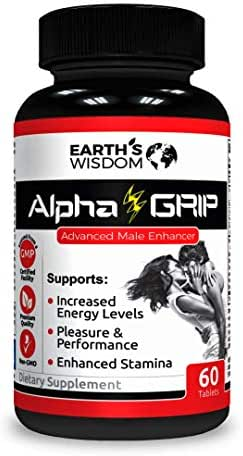 Alpha Grip Testosterone Booster for Men (60 Tablets). Natural Endurance, Stamina Booster, Recovery and Performance. Promotes Weight Loss & Healthy Fat Burning. Build Muscle Fast. Made in USA.