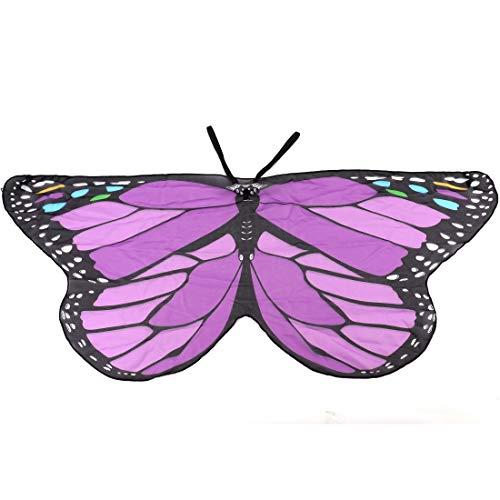 Tebery Kids Monarch Butterfly Wings (Purple) (Small Wings Purple)