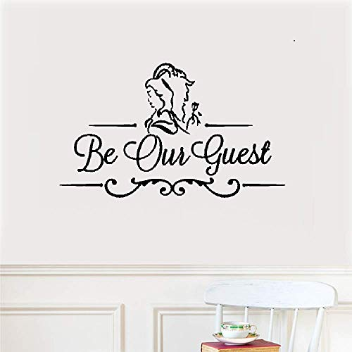 (Kiuya Wall Quotes Decal Wall Stickers Art Decor Be Our Guest for Door Entrance)