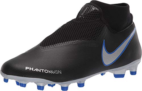 Nike Phantom Vision Academy Men's Firm Ground Soccer Cleats (8.5 M US, Black/Silver)