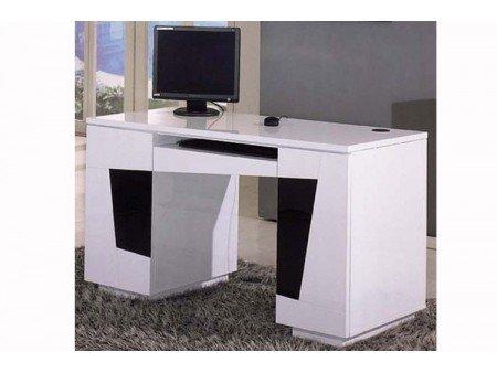 Bureau design antonello laqué blanc noir: amazon.fr: cuisine & maison