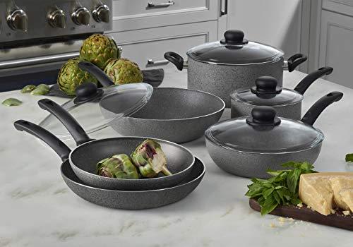Ballarini Asti Nonstick Cookware Set, 10-pc, Granite