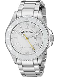 Marc by Marc Jacobs Womens MBM3407 Analog Display Analog Quartz Silver-Tone Watch