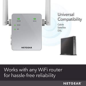 Make sure this fits by entering your model number. EXTENDED WIRELESS COVERAGE: Adds Wi-Fi range coverage up to 1000 sq ft, and connects up to 15 devices such as laptops, smartphones, speakers, IP cameras, tablets, IoT devices, and more. AC750 WI-FI SPEED: Provides up to 750Mbps performance using dual-band and patented FastLane(TM) technology.