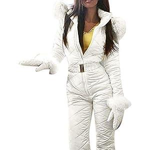 BITTEL Combinaison de Ski Femme, Femme Hiver Chaud Combinaison Neige Extérieur Sports Pantalon Ski Suit Imperméable Combinaison pour Ski, Sports, Cadeau