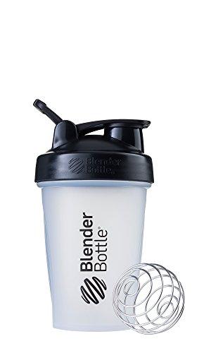 BlenderBottle Classic Loop Top Shaker Bottle, 20-Ounce, Clear/Black/Black