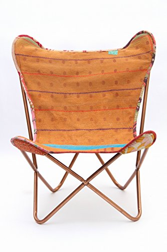 LG_2009 Butterfly Cooper Chair with Vintage Kantha, Muted Vintage Tone 9 ()