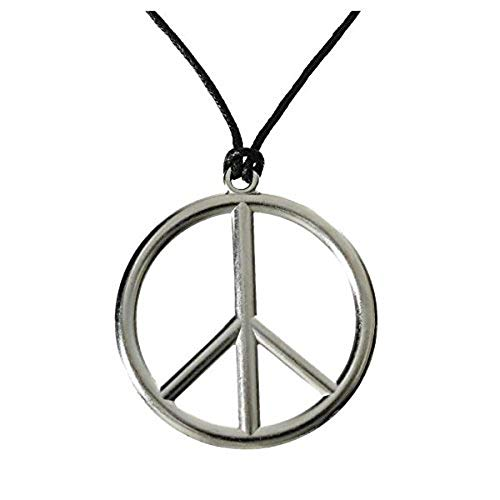 Peace Sign Pendant Necklace 70's Hippie Costume ()