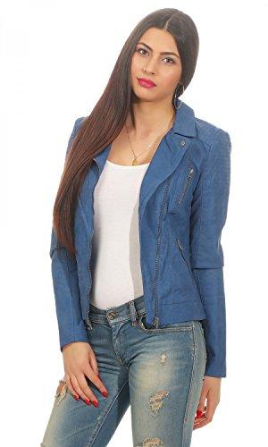 Blu Donna Giacca Biker Otw Faux Leather Onlsteady Cc Only nx8wATRqq