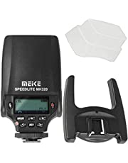 Meike Speedlite MK-320S TTL-flitser, opsteekflitser compatibel met Sony camera's met multiinterface Shoe incl. opsteekdiffuser