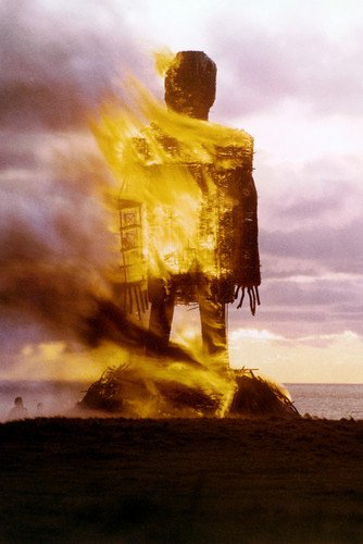 The Wicker Man 24x36 Poster burning structure classic
