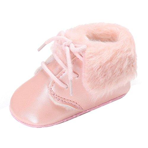 Omiky® Baby-Mädchen-Jungen-weiche alleinige Säuglingskleinkind-neugeborene wärmende Schuhe Rosa