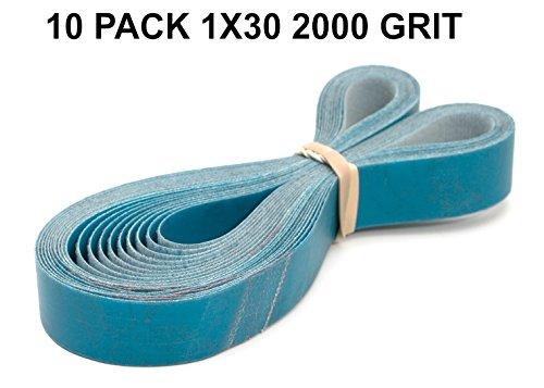 1x30-2000 Grit 10 Pack - Aluminum Oxide Very Fine Sanding Sharpening Belts