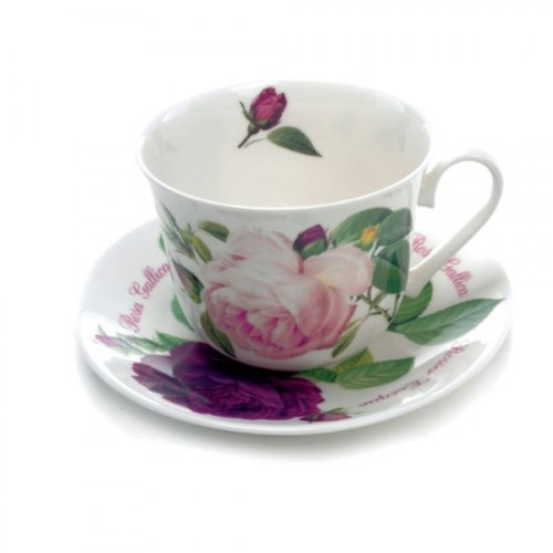Roy Kirkham Fine Bone China Versailles Rose Large Breakfast Cup & Saucer