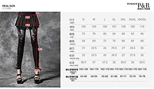 Fashion Punk Colour Hx Ragazza Pu Nero Pantaloni Leggings Punta A Cava Matita Legging Donna Chic Skinny Gotico 1xBPw