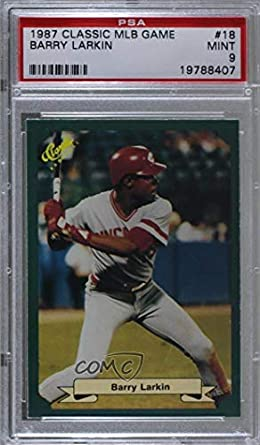 Amazoncom Barry Larkin Graded Psa 9 Mint Baseball Card 1987
